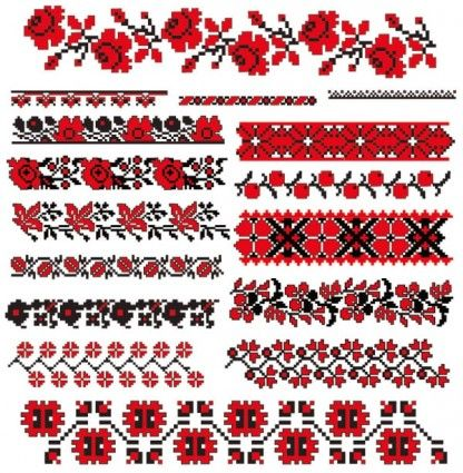 Cross Stitch | Cross Stitch Patterns 07 Vector Pattern Free For wallpaper