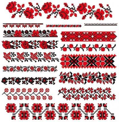 Cross Stitch   Cross Stitch Patterns 07 Vector Pattern Free For wallpaper