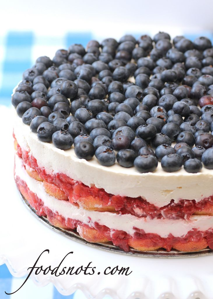 ... for strawberry and blueberry pie ;) Red, White, and Blue Berry Trifle