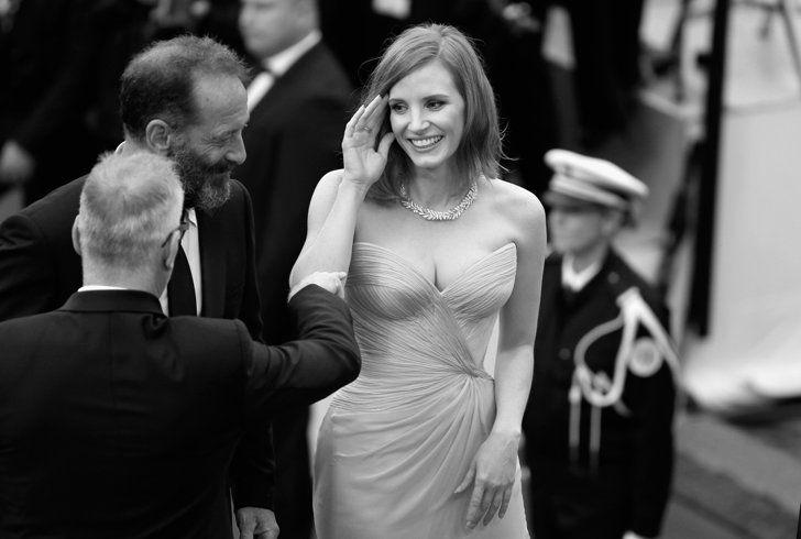 Pin for Later: Il N'y a Rien de Plus Glamour Que le Festival de Cannes en Noir et Blanc  Vincent Lindon et Jessica Chastain