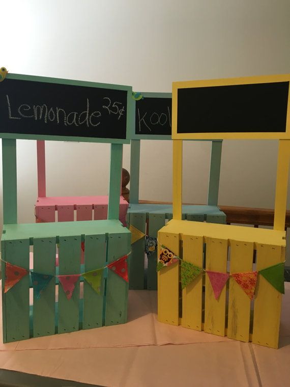 Super cute lemonade stand for 18 doll american girl by lorilove2