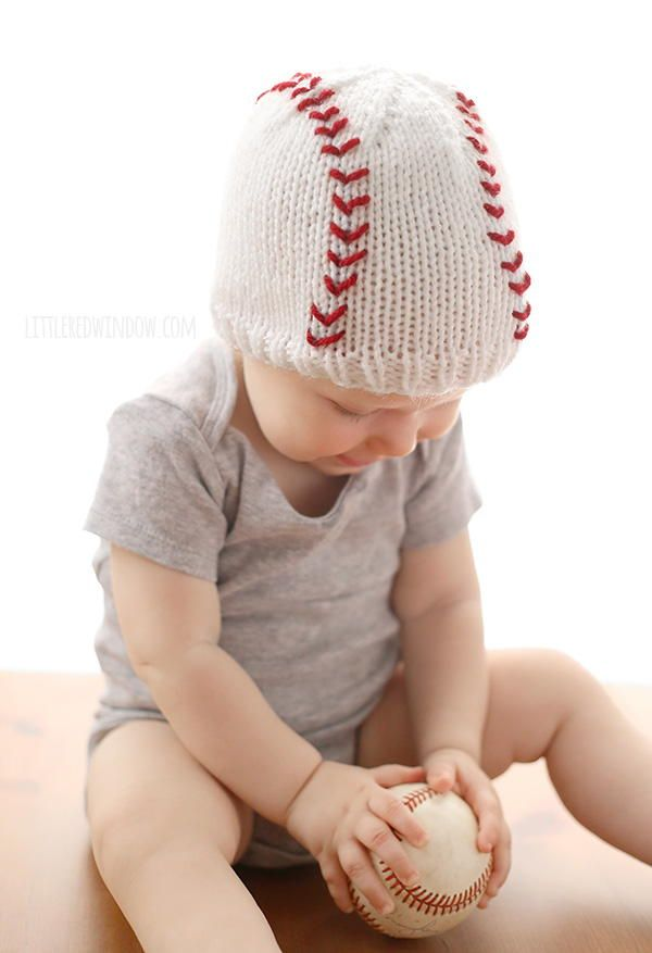 It's baseball season! Celebrate America's favorite pastime with this adorable knit baby hat.