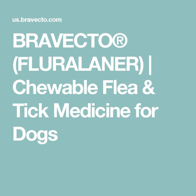 BRAVECTO® (FLURALANER) | Chewable Flea & Tick Medicine for Dogs