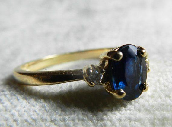 Anillo de compromiso de zafiro 1 Ct anillo de por LoveAlwaysGalicia