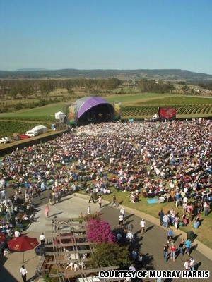 Hunter Valley, concerts, jazz in the vines, opera in the vines, Fleetwood Mac, Bruce Springstein