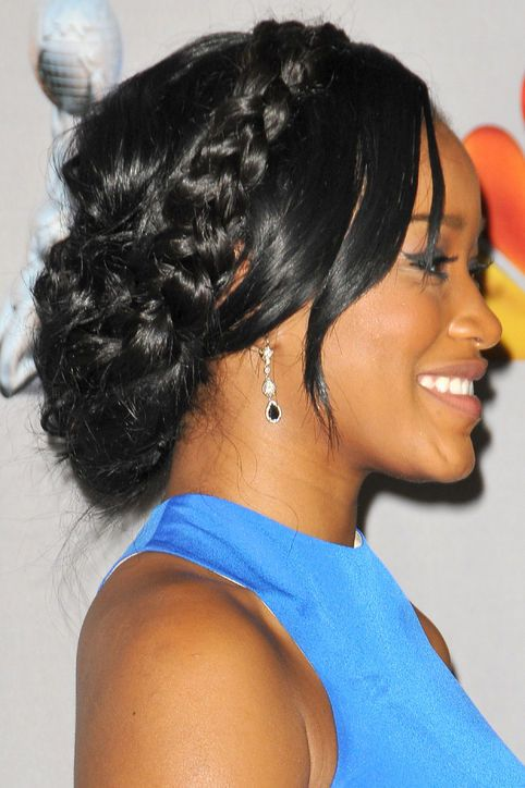 If you want braids…Try a braid extension if your hair's not as long as Keke Palmer's.