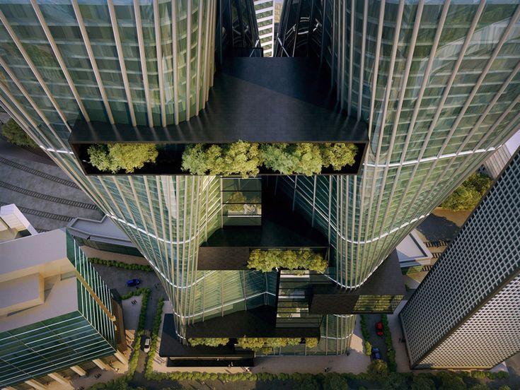 urban office architecture envisions a rising city at parramatta square