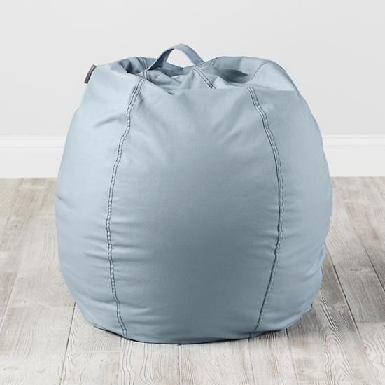 "30"" Cool Beans! Bean Bag Chair Cover (Lt. Blue)    The Land of Nod"