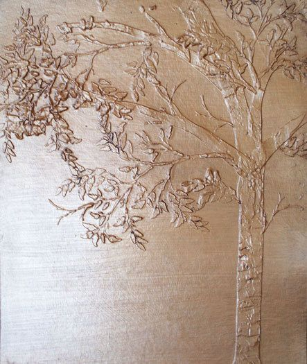 Tree Stencil/Raised Plaster Arched Trees Wall Stencil