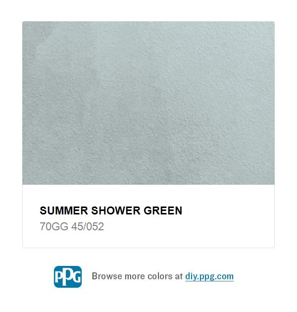 Explore Paint Color Summer Shower Green By Ppg Timeless Available At The Home Depot This Lovely Complex Grey Can Be Used On All Four W