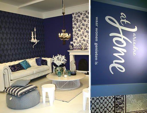 Delft Blue Interior Decoration of Dutch Magazine Ariadne ...