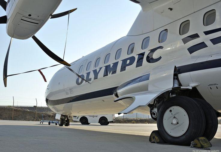 """Olympic Air ATR 42-600 - cn 1016 SX-OAX First Flight 20. Nov 2014 Test registration F-WWLZ Production Site Toulouse (TLS) Engines 2x PWC PW127M ΟΨΕΙΣ - ΜΑΤΙΕΣ Κτήριο 57 Τεχνική Βάση Olympic Air.Athens International Airport """"Eleftherios Venizelos"""" ATH/LGAV"""