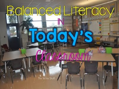 Ideas to create a balanced literacy program in your classroom.