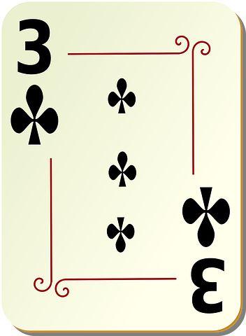 Clubs, Three, 3, Poker, Card, Games