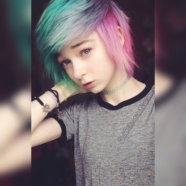 Pastel Rainbow Hair   Short Hair Styles, Pastel Rainbow