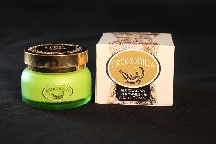 Crocodile Oil & Rosehip night cream by Crocodilia has divine scent with the benefits of pore refining, skin tightening and anti-ageing properties. delivery Australia wide. www.crocodilia.com.au