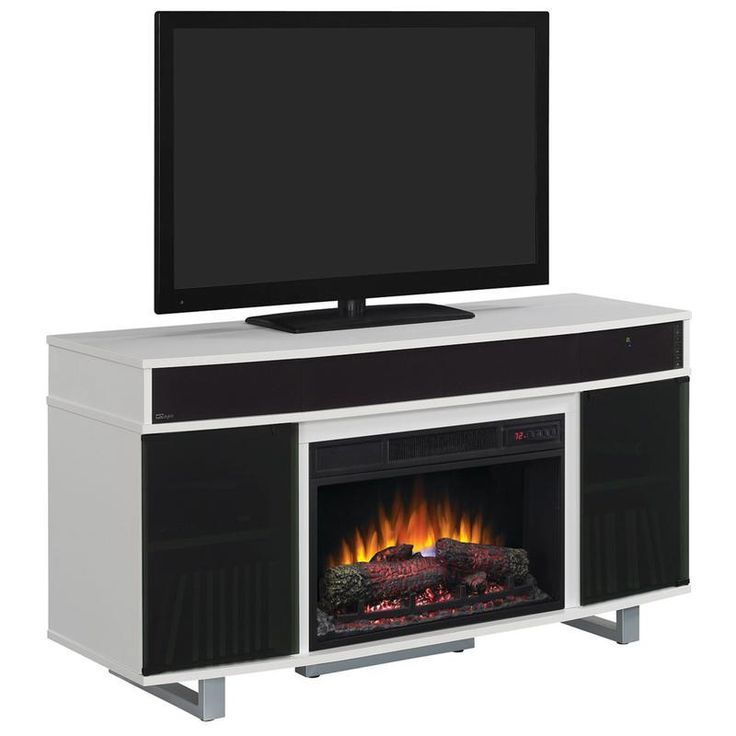 "ENTERPRISE 56"" TV CART WITH LOG FIREPLACE & SOUNDBAR - More Options : Color"