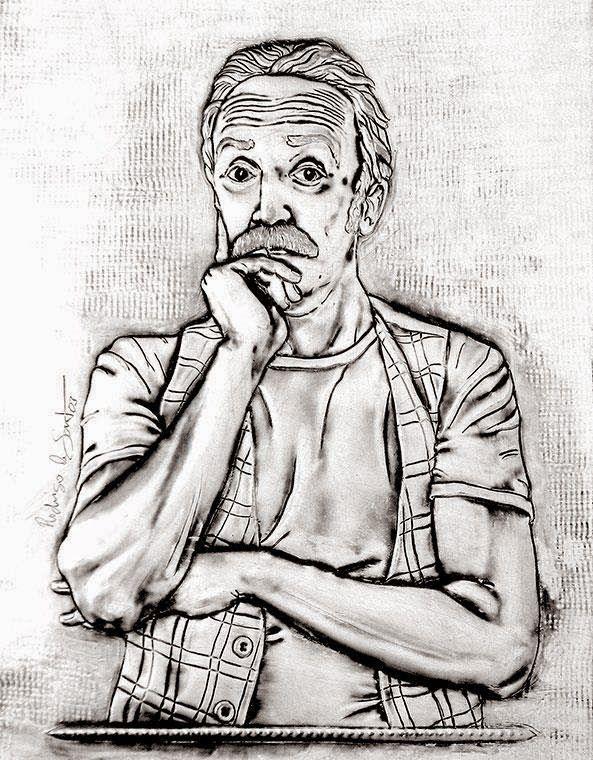 ArteyMetal: Retrato de Santi Rodríguez 4