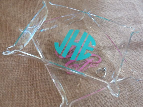 Acrylic Monogrammed Jewelry Dresser Tray by polkadotsmg on Etsy, $14.95