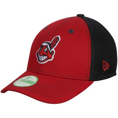 Cleveland Indians New Era Youth Team Front Neo 39THIRTY Flex Hat - Red/Royal