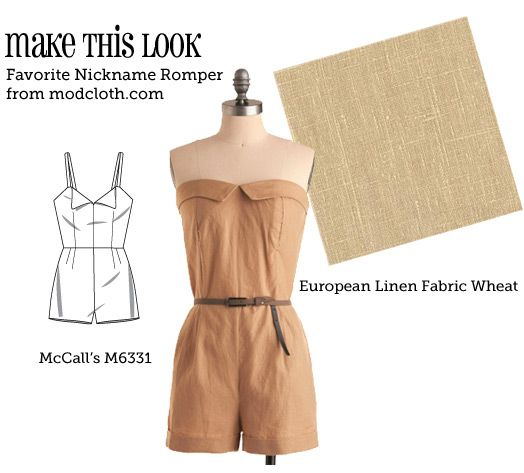 Make this look!!! Favorite Nickname Romper (Modcloth)  by Sew Weekly -- I have pinned the site as well...there are tons of ideas and styles!!! check it out!!!