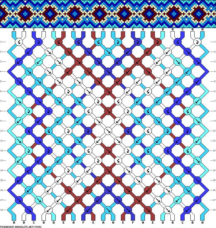 Muster # 74452, Streicher: 20 Zeilen: 18 Farben: 6