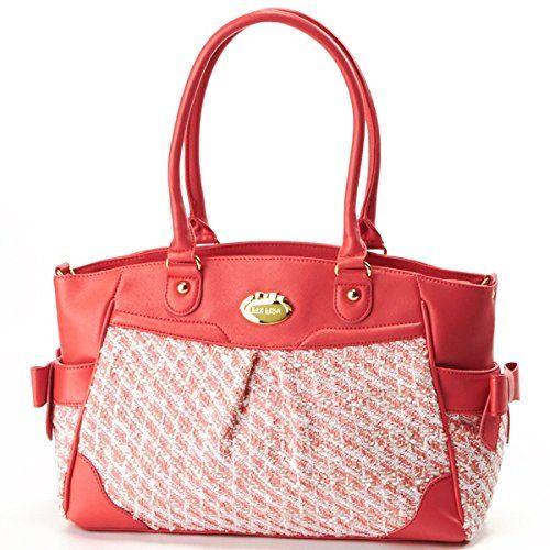 Amazon.co.jp: リズリサ(バッグ&ウォレット)(LIZ LISA Bag&Wallet) バッグ(ツイード2WAYトート)【サーモンピンク/**】: シューズ&バッグ