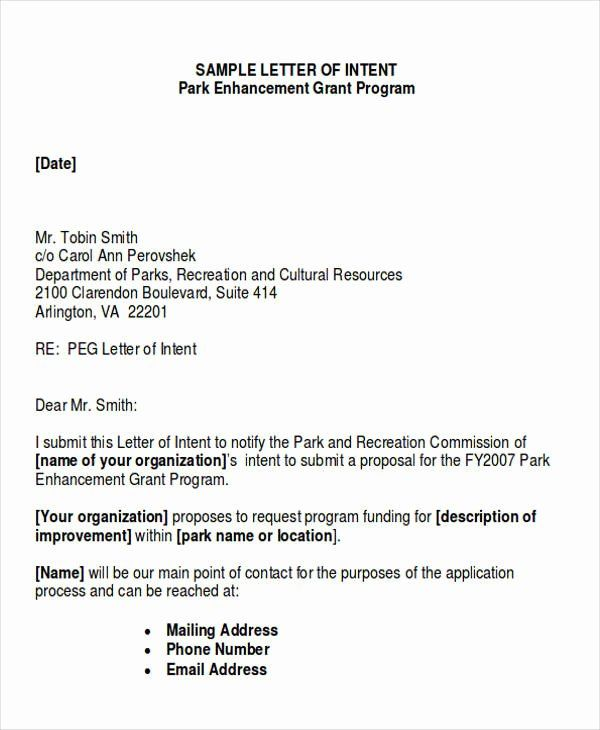 40 Examples Of Letter Of Intent Letter Example Business Letter