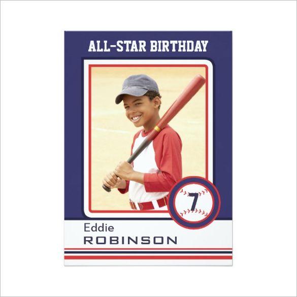 9 Free Printable Word Pdf Psd Eps Format Download Free Premium Templates Baseball Card Template Baseball Cards Baseball Birthday Invitations