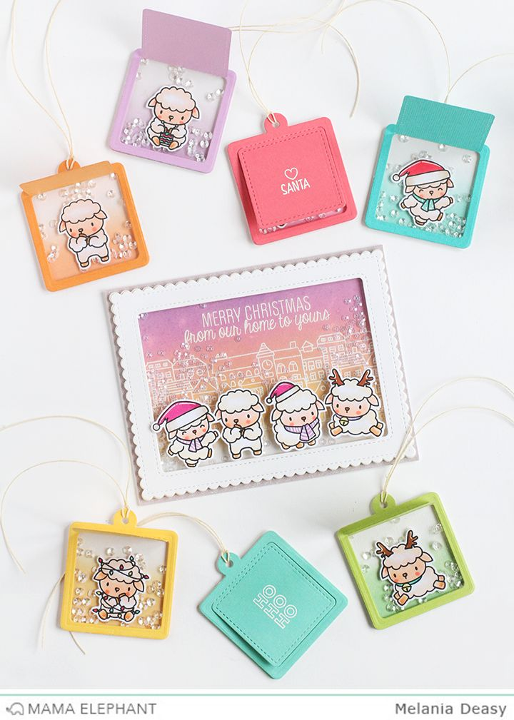 Hi all!  Today I want to share with you my card and tags for Mama Elephant Designer Series using Wooly Winter  stamp set. I loveee this stam...