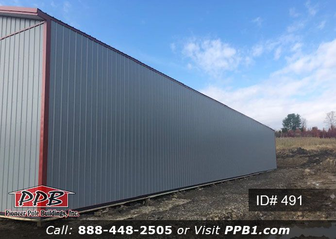 Big Storage 40 W X 120 L X 16 6 H Id 491 40 Standard Trusses 4 On Center 2 10 X 10 Commercial Insulated Garage Door Pole Buildings Building Cost