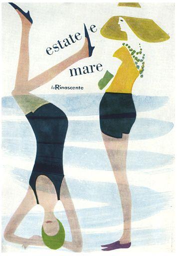 estate la merInspiration Image, Paper Art Illustration, Lora Lamm, Design Typ, Wall Prints, Beach Bum, Design Yum, Laura Lamm, The Sea