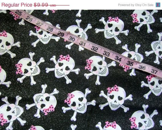 Skull quilt fabric with glitter bows hearts cotton quilting sewing material crafting by the yard #skull, #crossbones, #love, #glitter, #quilt, #sewing, #fabric, #etsy - pinned by pin4etsy.com