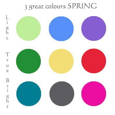 3 great Bright Spring colours: - intense teal  - sharp mid-dark grey  - the undertone blued rose