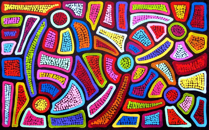 Aboriginal Artwork by Sally Clark. Sold through Coolabah Art on eBay. Cataogue ID 13377
