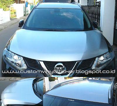 Nissan Xtrail Black - Silver Gloss Hood & Roof Wrapp