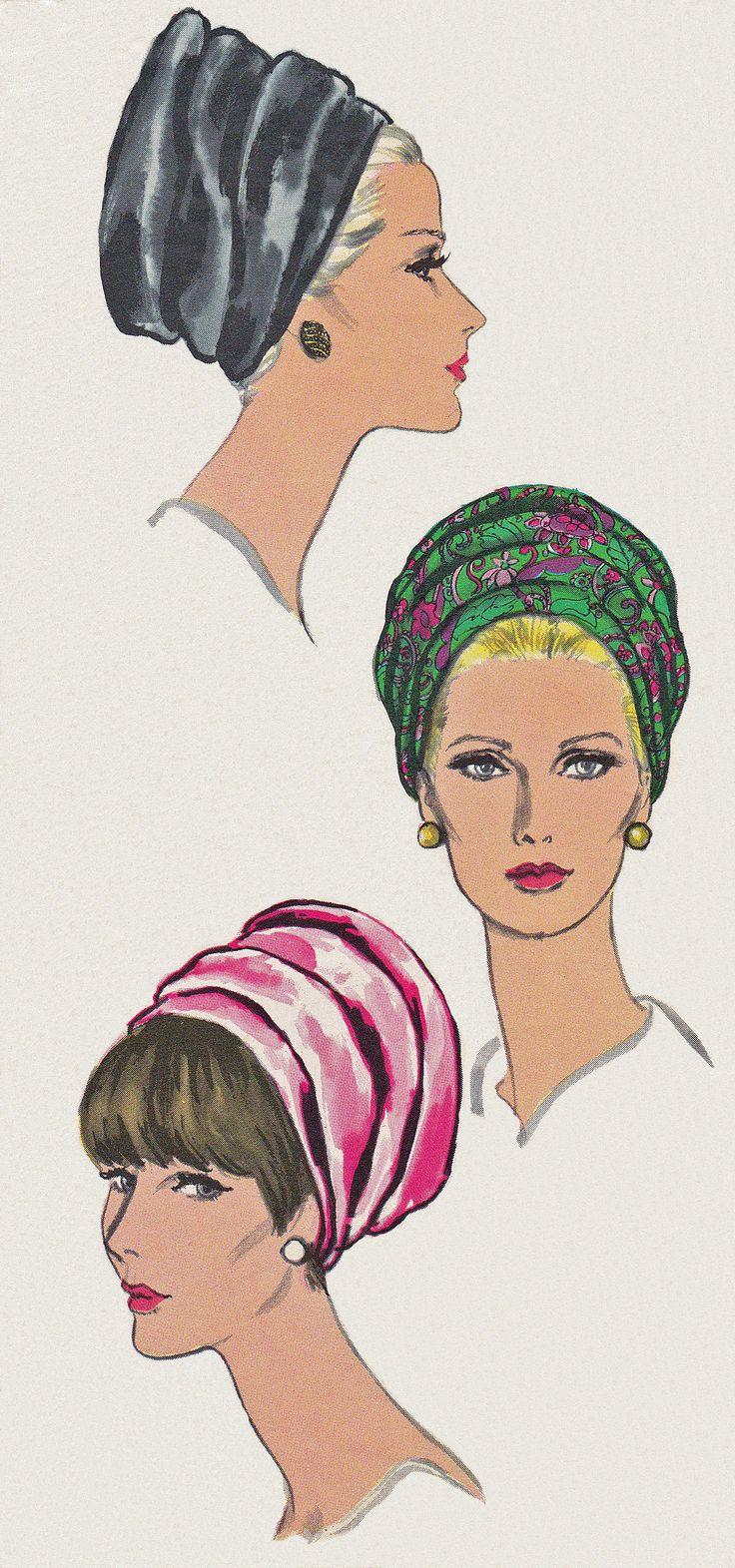 1960's Women's Turban Style Hat (1968) Vogue pattern #7034