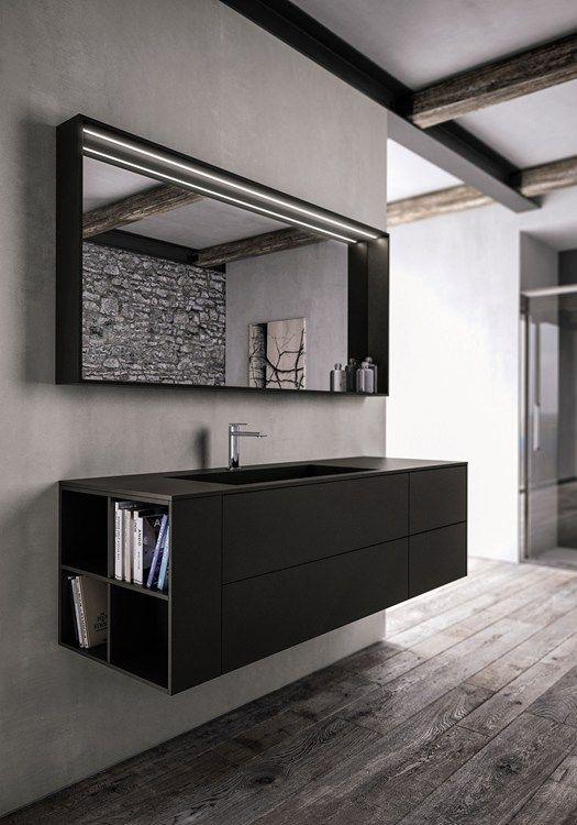 Wood, Ecomalta, Aquatek and laminates - Ideagroup presents new bathroom collections at ISH 2015 #black @ideagroupbagno