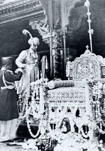 In the Court of Mysore Palace