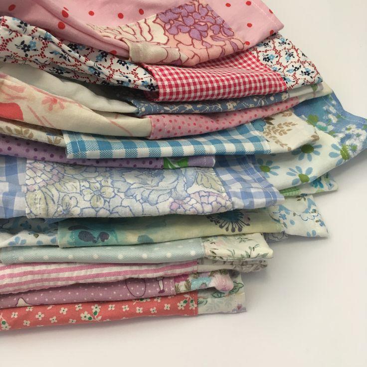 Vintage fabric upcycled sustainable floral cotton Handmade children's clothing  @lueysmum