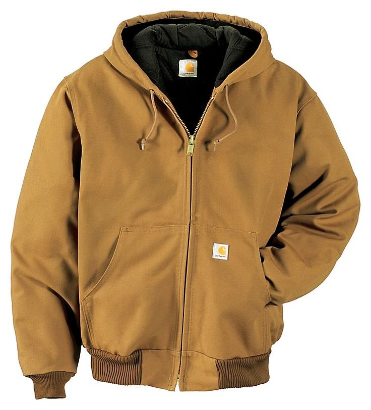 Carhartt Quilted-Flannel-Lined Duck Active Jacket for Men | Bass Pro Shops