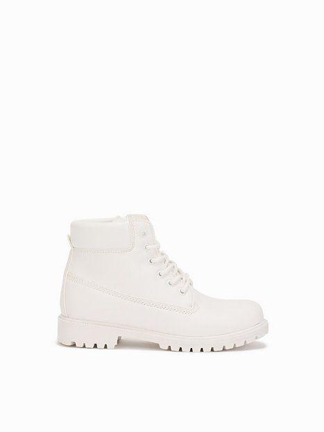Lace Boot - Nly Shoes - Biały - Obuwie Na Co Dzień - Obuwie - Kobieta - Nelly.com