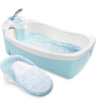 Summer Infant Детская ванна - джакузи с душем Lil' Luxuries голубая  — 8650р.  Настоящая SPA-процедура для Вашего малыша в домашних условиях!