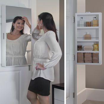 Behind Door Storage Door Storage And Framed Mirrors On
