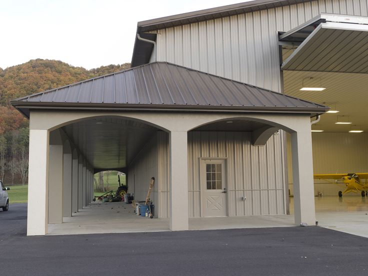 Morton buildings airplane hangar in fletcher north for Garage packages nc