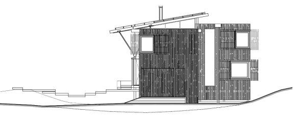 Esta casa, diseñada por el despacho de arquitectura Herbstarchitecst, ubicada en el poblado de Pohutukawa, Nueva Zelanda, fue construida con materiales tradicionales, sin embargo su imagen es muy contemporánea.