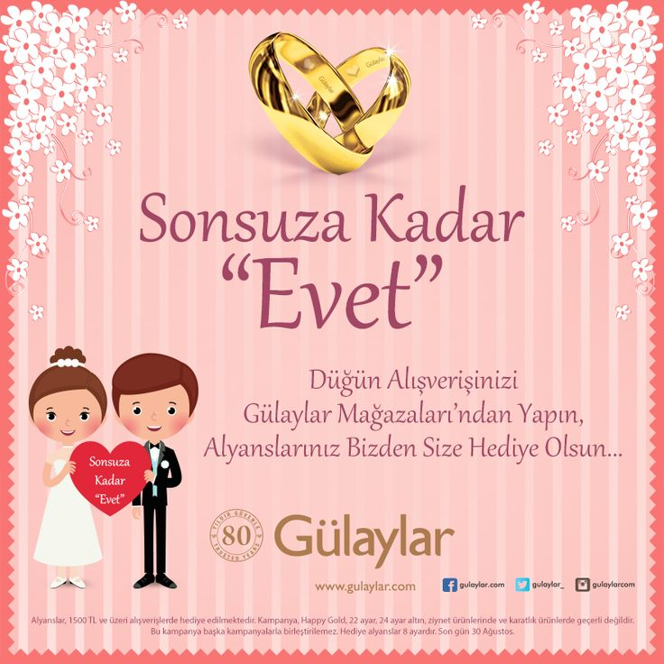 Düğün alışverişinizi #ANKAmall Gülaylar'dan yapın, alyanslarınız bizden hediye olsun.
