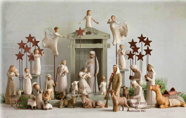 This all new Nativity set for 2012 is beautifully framed by the unique Creche and companion pieces that include the NEW Prayer of Peace, Zampognaro and Little Sheperdess.