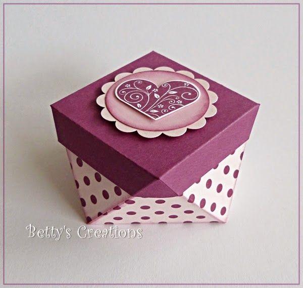 Anleitung für eine extravagante Geschenkbox - Bettys-creations