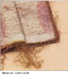 Maria Lai - libro cucito